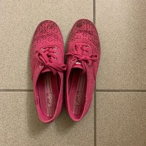 Keds pink flower pedal tennis shoes